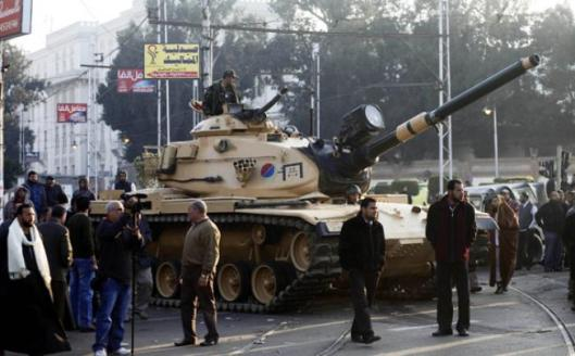 Tanks were deployed outside the presidential palace last week