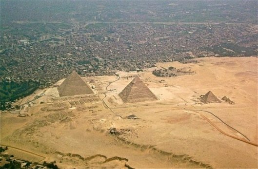 The Pyramids at Giza are being swallowed up by urban sprawl