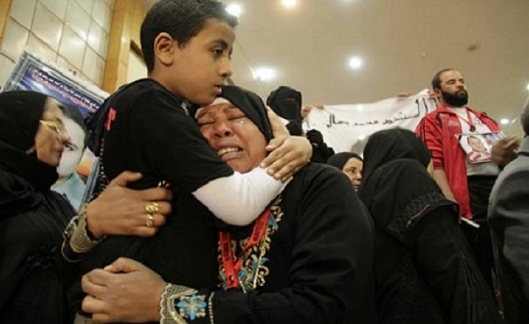 Mourners grieve for the dead of Port Said