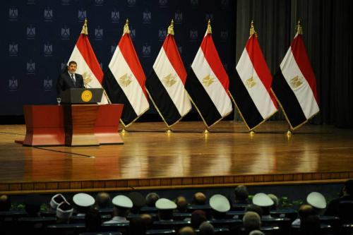 Morsi's speech, delivered before his generals, was not well received