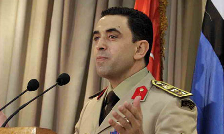 Egypt's army spokesman Colonel Ahmed Ali