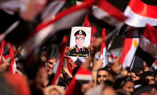 A pic of Gen. al-Sisi, the power behind the Egyptian government