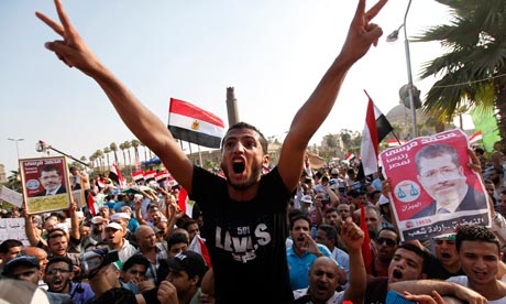Supporters of Mohamed Morsi have vowed to continue the fight