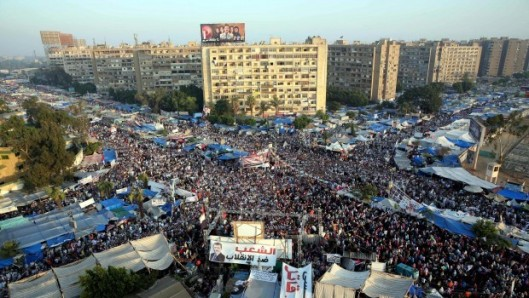 The tent city in Rabaa Adawiya