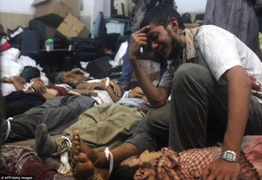 Hundreds were massacred by security forces at Rabaa al-Adawiya